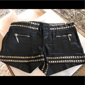 Guess Premium Silver Stud Shorts